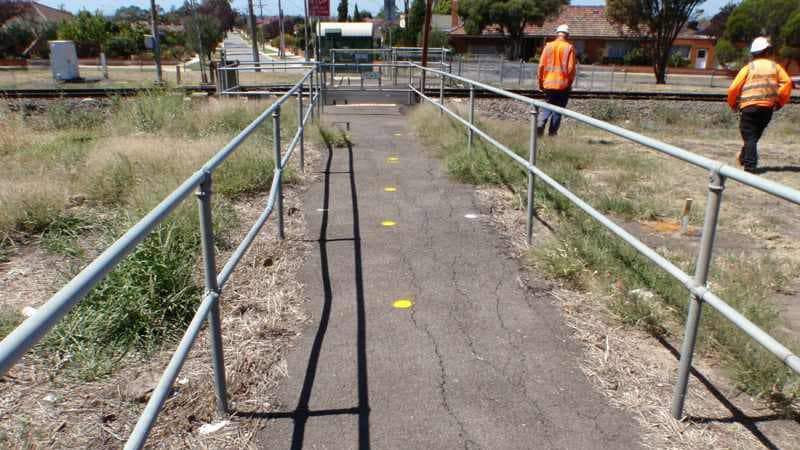 Geelong Cable Locations locating gas pipe crossing train track