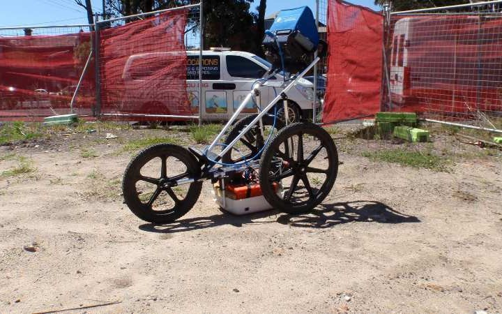 Geelong Cable Locations clearing site with GPR