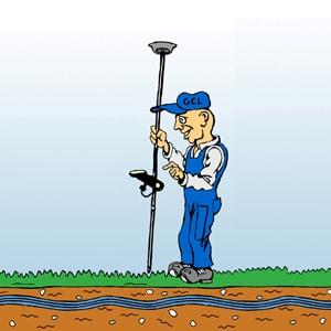 Geelong Cable Locations - GPS plotting cartoon