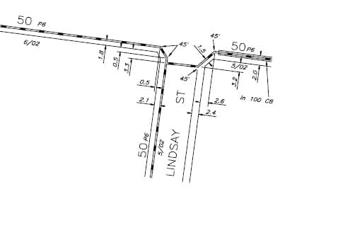 Plan of gas main from Dial Before you Dig