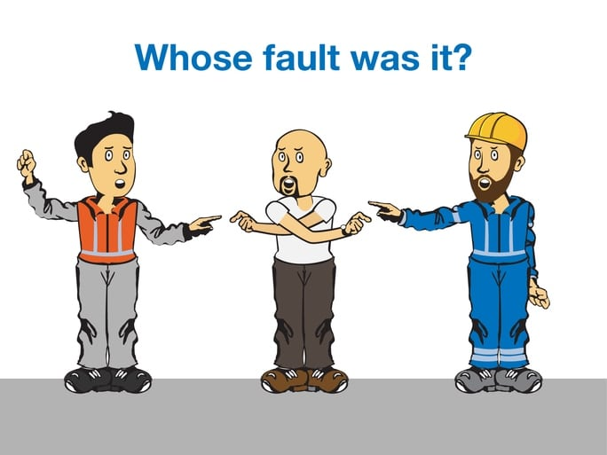 Whose fault is it that the gas pipe was hit